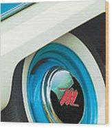 1959 Nash Metropolitan Wheel Emblem Wood Print