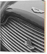 1960 Aston Martin Db4 Gt Coupe' Grille Emblem Wood Print