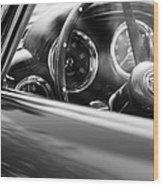 1960 Aston Martin Db4 Series II Steering Wheel Wood Print