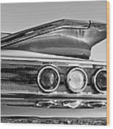 1960 Chevrolet Impala Resto Rod Taillight Wood Print