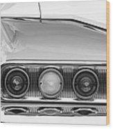1960 Chevrolet Impala Tail Lights Wood Print