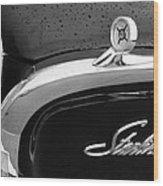 1960 Ford Galaxie Starliner Hood Ornament - Emblem Wood Print