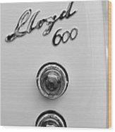 1960 Lloyd 600 Taillight Emblem Wood Print