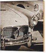 1960 Maserati Grille Emblem Wood Print by Jill Reger