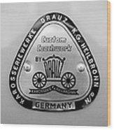 1960 Porsche 356 B 1600 Super Roadster Emblem Wood Print
