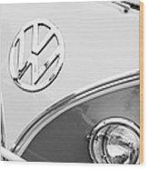 1960 Volkswagen Vw 23 Window Microbus Emblem Wood Print by Jill Reger