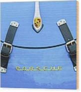 1960 Volkswagen Vw Porsche 356 Carrera Gs-gt Replica Hood Ornament Wood Print by Jill Reger