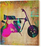 1960's Mini Bike Wood Print