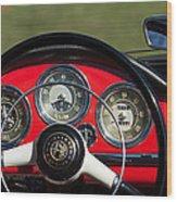 1961 Alfa-romeo Giulietta Spider Steering Wheel Emblem Wood Print