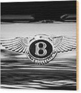 1961 Bentley S2 Continental - Flying Spur - Emblem Wood Print