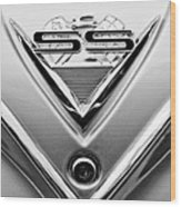 1961 Chevrolet Ss Impala Emblem Wood Print
