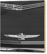 1961 Ford Thunderbird Hood Emblem Wood Print