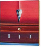 1961 Pontiac Catalina Emblem Wood Print