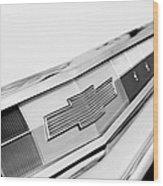 1962 Chevrolet Belair Emblem Wood Print