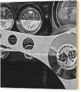 1962 Chevrolet Corvette Convertible Steering Wheel Wood Print
