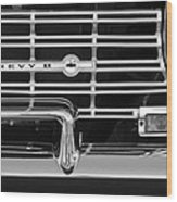 1962 Chevrolet Nova Grille Emblem Wood Print