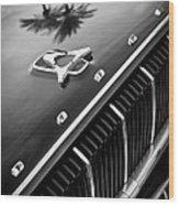 1962 Dodge Polara 500 Grille - Hood Emblem Wood Print
