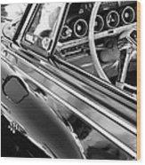 1962 Dodge Polara 500 Side Emblem - Steering Wheel Wood Print