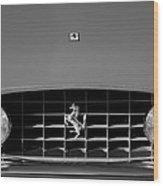 1963 Ferrari Grille Emblem Wood Print