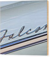 1963 Ford Falcon Futura Convertible  Emblem Wood Print by Jill Reger