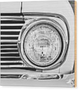 1963 Ford Falcon Futura Convertible Headlight - Hood Ornament Wood Print by Jill Reger