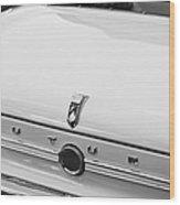 1963 Ford Falcon Futura Convertible  Rear Emblem Wood Print by Jill Reger