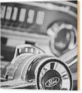1963 Ford Falcon Futura Convertible Steering Wheel Emblem Wood Print