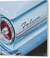 1963 Ford Falcon Futura Convertible Taillight Emblem Wood Print by Jill Reger