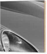 1963 Jaguar Xke Roadster Headlight Wood Print by Jill Reger