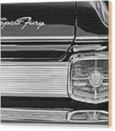 1963 Plymouth Sport Fury Taillight Emblem Wood Print
