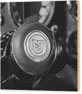 1964 Aston Martin Steering Wheel Emblem Wood Print