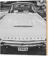 1964 Ford Thunderbird Painted Bw  Wood Print