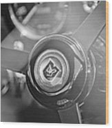 1965 Aston Martin Db5 Coupe Rhd Steering Wheel Wood Print