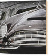 1965 Aston Martin Db6 Short Chassis Volante Grille Wood Print