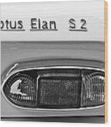 1965 Lotus Elan S2 Taillight Emblem Wood Print by Jill Reger