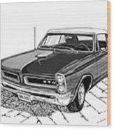 1965 Pontiac G T O Convertible Wood Print