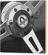1965 Shelby Cobra 427 Steering Wheel Emblem Wood Print
