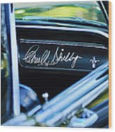 1965 Shelby Prototype Ford Mustang Carroll Shelby Signature Wood Print
