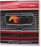 1966 Ford Mustang Wood Print