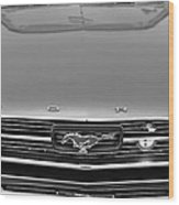 1966 Ford Mustang Front End Wood Print