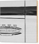 1966 Ford Pickup Truck Emblem Wood Print
