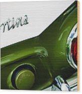 1966 Lotus Cortina Mk1 Taillight Emblem Wood Print