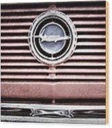 1966 Plymouth Barracuda - Cuda - Emblem Wood Print