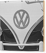 1966 Volkswagen Vw 21 Window Microbus Emblem Wood Print