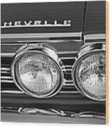 1967 Chevrolet Chevelle Super Sport Emblem Wood Print