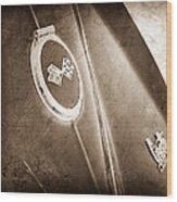 1967 Chevrolet Corvette Rear Emblems Wood Print