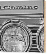 1967 Chevrolet El Camino Pickup Truck Headlight Emblem Wood Print