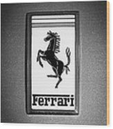 1967 Ferrari 330 Gts Emblem Wood Print