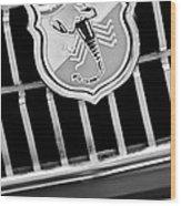 1967 Fiat Abarth 1000 Otr Emblem Wood Print