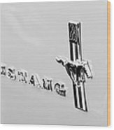 1967 Ford Mustang Side Emblem Wood Print